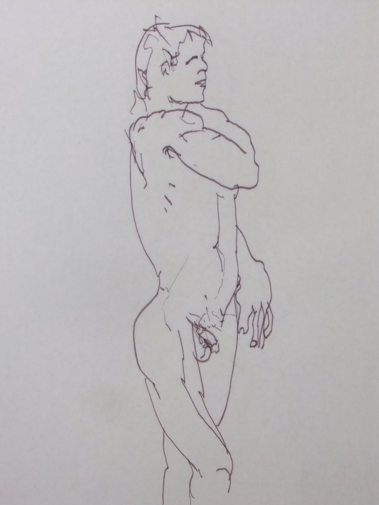 Standing Male Nude Gesture Lifedrawing
