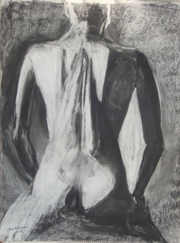 Female Nude Lifedrawing (Back)