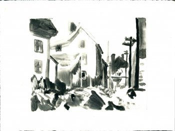 Monotype (after Edward Hopper) No. 3