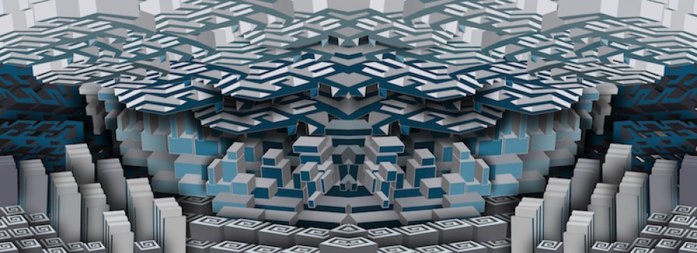 Blue and Grey Maze